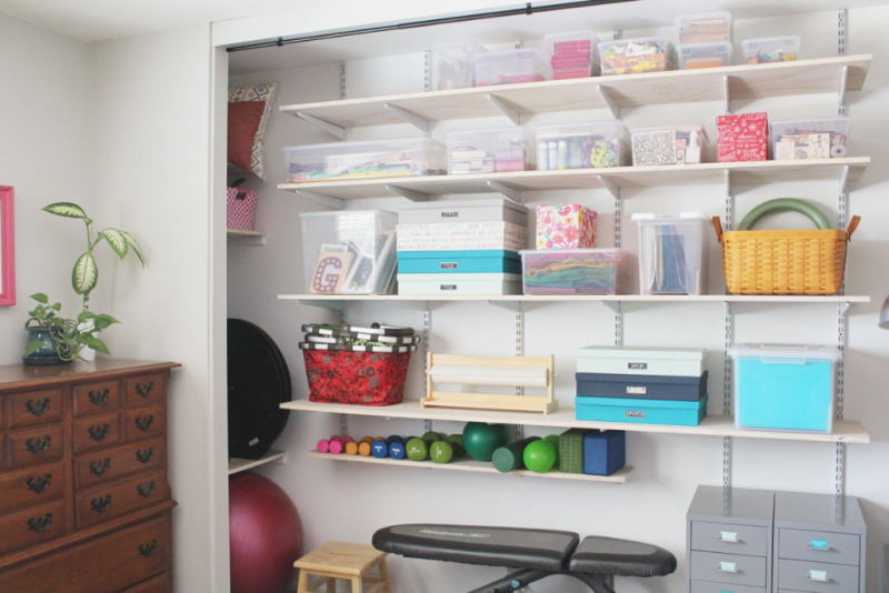 Closet Before and After...Just Make Stuff Blog