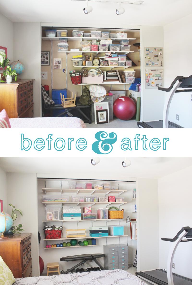 Closet Before & After...Just Make Stuff Blog