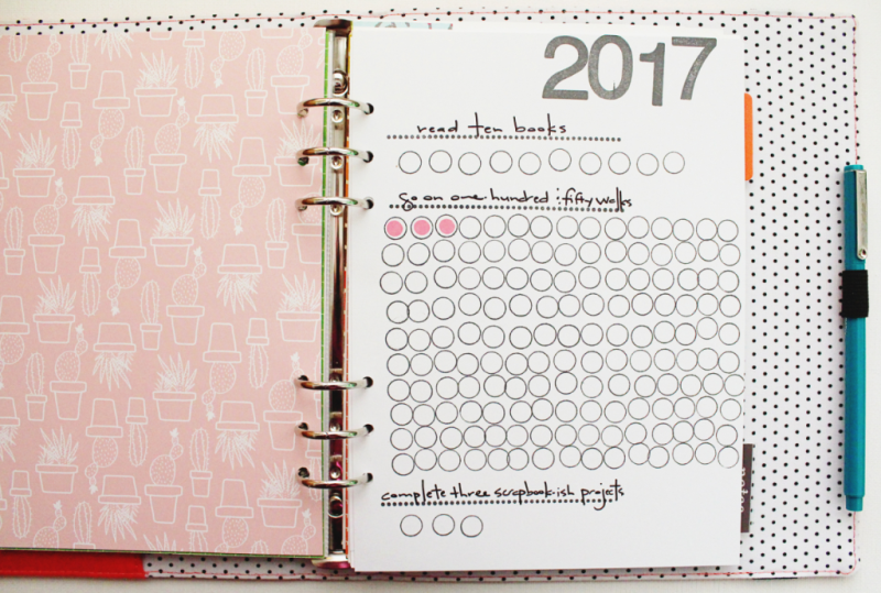 Goals Stamped Planner Sheet...Just Make Stuff Blog