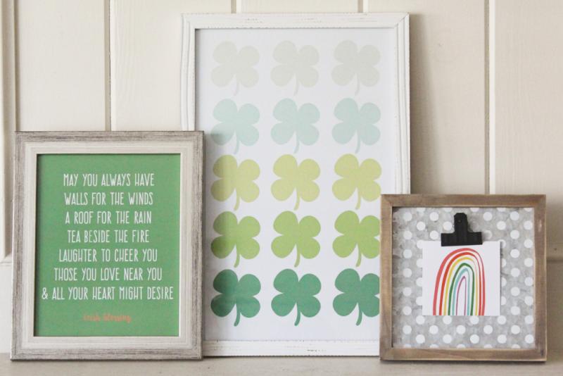 St. Patrick's Day Mantle...Just Make Stuff Blog