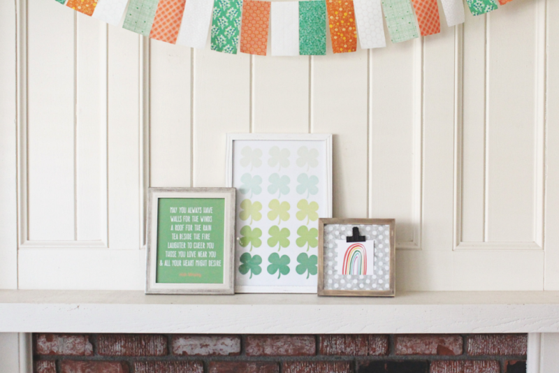 St. Patrick's Day Mantle...Just Make Stuff Blog