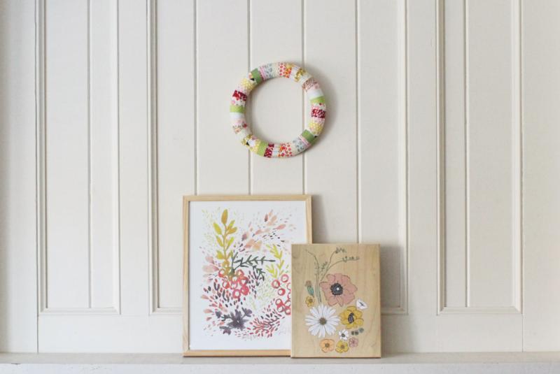Spring Mantle...Just Make Stuff Blog