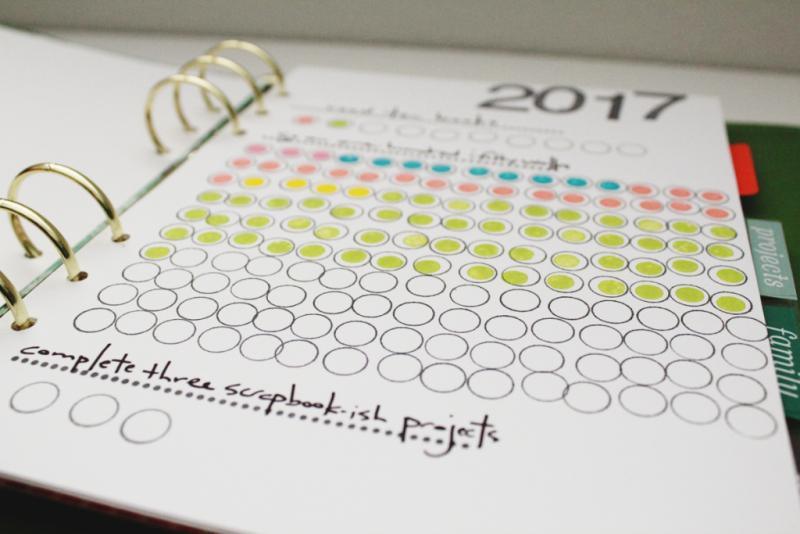 Stamped Planner Goal Page...Just Make Stuff Blog