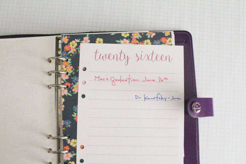Free Printable 2016 Planner Page...Just Make Stuff Blog