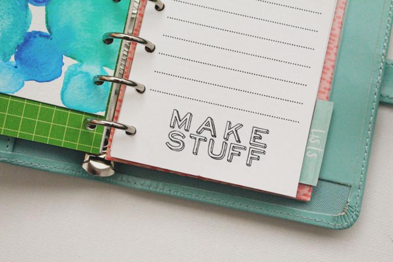 Crafting Mini Planner Page...Just Make Stuff Blog