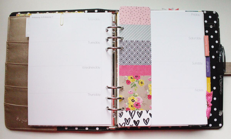 DIY Patterned Planner Bookmark...Just Make Stuff Blog