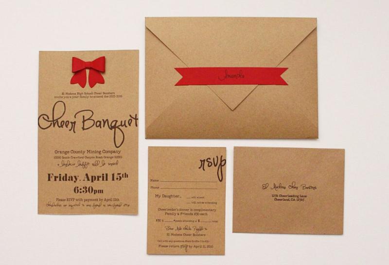 Cheer Banquet Invitations...Just Make Stuff Blog