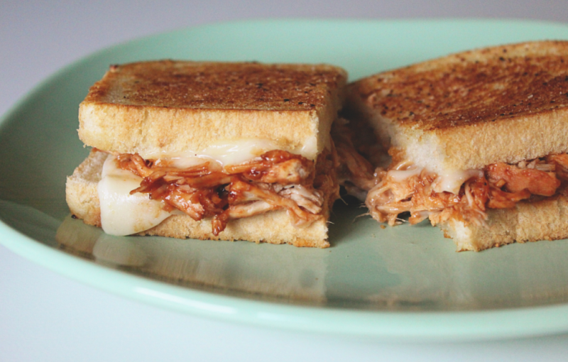 Barbecue Beer Chicken Grilled Cheese Sandwiches...Just Make Stuff Blog