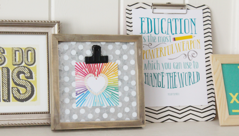 Back to School Mantle...Just Make Stuff Blog