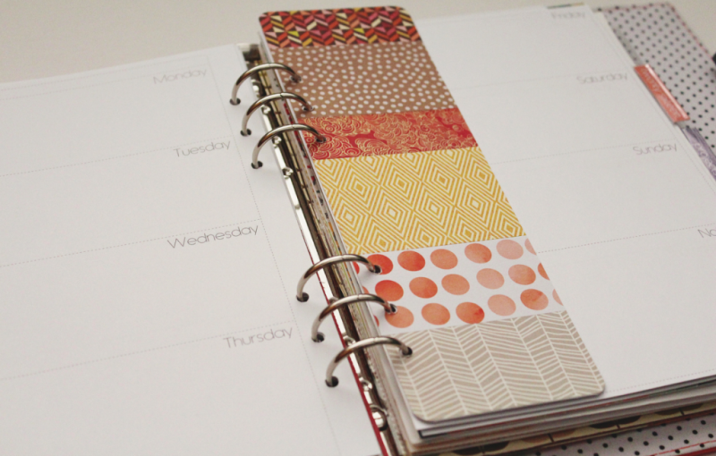 Fall Planner Bookmark...Just Make Stuff Blog