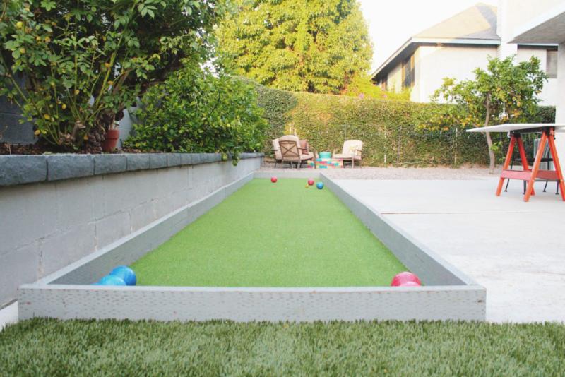 Backyard Bocce Court...Just Make Stuff Blog