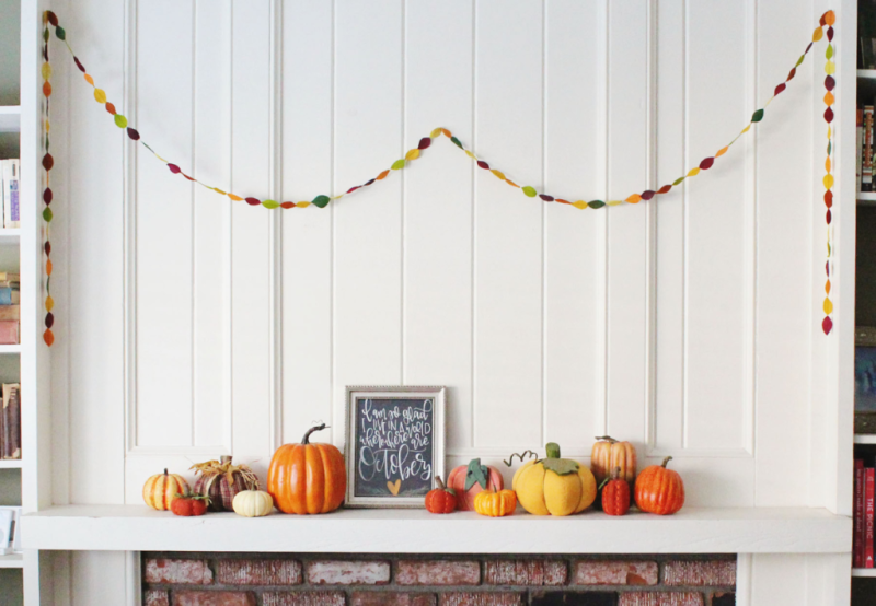 Fall Mantle...Just Make Stuff Blog