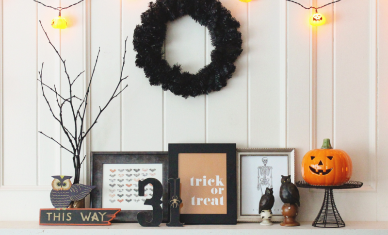 Halloween Mantle...Just Make Stuff Blog