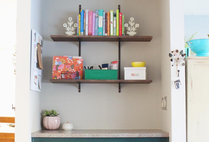 Shelves Before & After...Just Make Stuff Blog