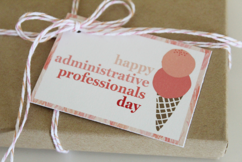 Administrative Professionals Day Ice Cream Gifts...Just Make Stuff Blog