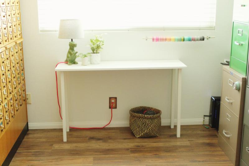 Craft table...Just Make Stuff Blog