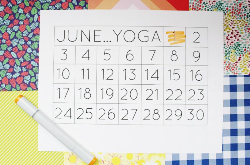 Monthly Goal Calendar...Just Make Stuff Blog